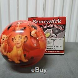 Brunswick Viz-a-ball Disney Le Roi Lion Non Percé Boule De Bowling Limitée 8lb