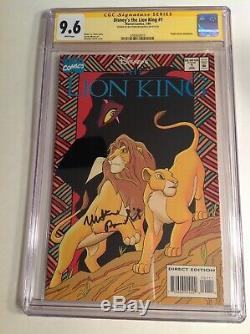 Cgc 9.6 Ss Disney Le Roi Lion # 1 Signé Par Matthew Broderick 1994 Pas 9.8