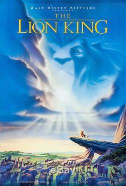 Classique Lion King Walt Disney 1994 Ds Originale 2 Faces 27x40 Us Affiche Du Film