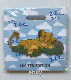 D23 2019 Mog Simba Lion King Cat Nap Le300 Disney Pin Wdi Flambant Neuf