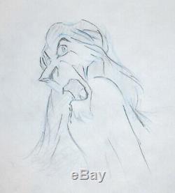 Dessin Original De La Production Artistique D'animation Walt Disney Du Roi Lion De Scar