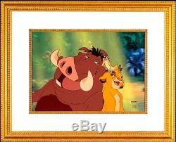 Disney Animation Cel Le Roi Lion Hakuna Matata Cellule D'art Rare Édition Limitée