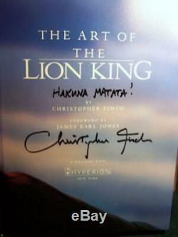 Disney Art Du Livre Roi Lion Finch Signe