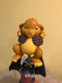 Disney Big Fig Figurine Lion King Rafiki Et Simba + Orinibal Box