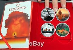 Disney Book Stories Roi Lion Pièce D'argent Fixé Niue 2 Dollars 2019 D23 Expo 2019