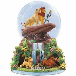 Disney Bradford Échange Lion King Glitter Musical Globe Simba Nala Rafiki