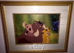 Disney Cel Le Lion Roi Ensemble De 2 Cellules Encadrées Cel Rare Animation Édition D'art