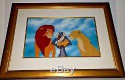 Disney Cel Le Roi Lion Famille Fierté Rare Animation Art Édition Cellulaire