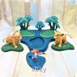 Disney Classics Lion King Figurine Simba Nala Zazu Set Livraison Gratuite Rare Utilisé F/s