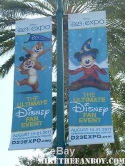 Disney D23 Expo Roi Lion Vinyl Street Banner Authentic Extremel Rare Lire Desc