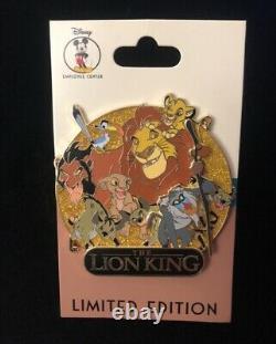 Disney Décembre Employee Centre Lion King Pin Cluster Simba Mufasa Anniversaire Le250
