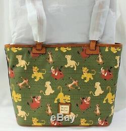 Disney Dooney & Bourke Roi Lion Tote Simba Nala Timon Pumbaa Bourse Sac