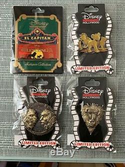 Disney Dssh Dsf Roi Lion Film Ensemble Complet Toutes Les Broches Marquee Simba Scar Et Mufasa