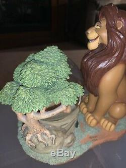 Disney Extrêmement Rare Roi Lion Mufasa Simba Snow Globe Figure Music Works Grand
