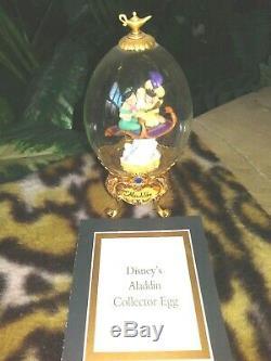 Disney Franklin Mint Collector Oeufs Cendrillon, Le Roi Lion, Aladdin, Beauté Beast