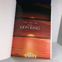 Disney L'art Du Roi Lion Ltd Ed Signé Livre, Et Simba Sericel Slipcover