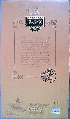 Disney Le Roi Lion 25e Anniversaire Simba Nala Figure Limited Edition 650