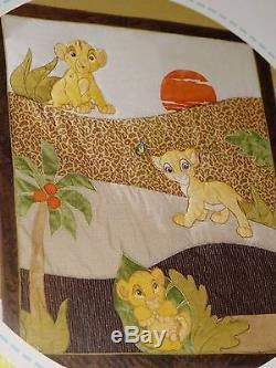 Disney Le Roi Lion, 5 Pièces, Bébé-lit (jnr Bed), Ensemble De Courtepointes, Draps, Couvertures Bnp, Boo