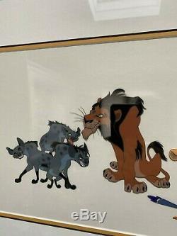 Disney Le Roi Lion De Original Cast De Caractères Ltd Édition Cel Encadrée Coa 1994