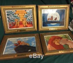 Disney Le Roi Lion Framed Lithographies Rappelez-vous Qui Vous Êtes Gravé Ensemble De 4