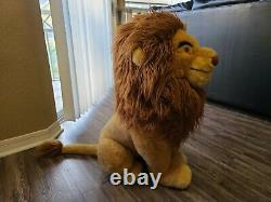 Disney Le Roi Lion Mufasa Plush Vtg Jumbo (rare) 30 Inches Tall
