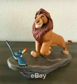 Disney Le Roi Lion Mufasa & Zazu Sur Figurine En Céramique Rock Pride Euc
