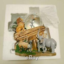 Disney Le Roi Lion Neige Snow Dome Globe Music Box 25e Anniversaire Super Rare