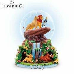 Disney Le Roi Lion Rotation Glitter Musical Globe Neige Fierté Fierté Rock Bradford Nouveau