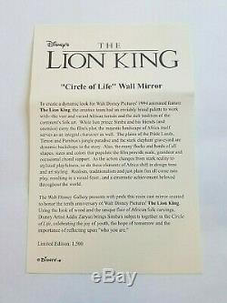 Disney Limited Edition Roi Lion 10e Anniversaire Du Cercle De La Vie Grand Miroir