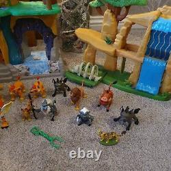 Disney Lion Guard Playsets Pride Land & Scar Training Lair Figures Bundle