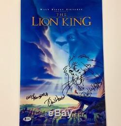 Disney Lion King Cast Signé & Sketch 11x17 Affiche De Film Photo Beckett Bas Coa