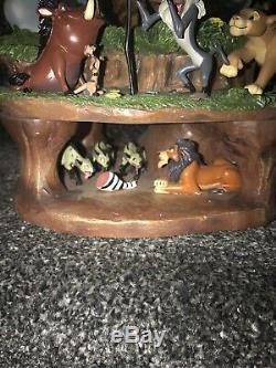 Disney Lion King Musical Illumination Snowglobe Globe Rare Large Nouveau Boxed