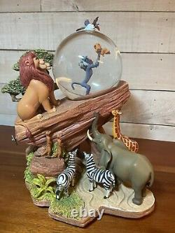 Disney Lion King Pride Rock Circle Of Life Musical Moving Animated Snowglobe