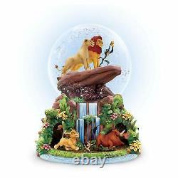 Disney Lion King Rotating Musical Glitter Globe Nouveau