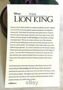 Disney Lion King Snow Globe Musical Je Ne Peux Pas Attendre Pour Être Roi 10e Anniversaire