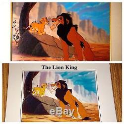 Disney Lion Roi Animation Cel Diable Oncle Cicatrice Simba Édition Rare Cellule D'art