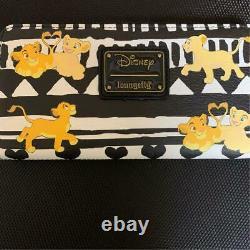 Disney Long Portefeuille Character Loungefly Le Roi Lion Noir Blanc Mignon Dames