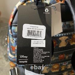 Disney Loungefly Le Lion King Tribal Chibi Mini Sac Sac À Dos Exclusif Gris