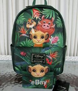 Disney Loungefly Roi Lion Mini Sac À Dos Et Titulaire De La Carte Timon Simbaa Tn-o