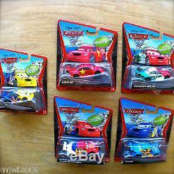 Disney Pixar Cars 2 Memo Russe Frosty Rojas Jr Flash Long Ge Lot 5 Super Chase