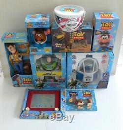 Disney Pixar Toy Story 1995 Thinkway Jouets Grand Lot 9 Chiffres Mib Buzz Woody