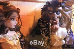 Disney Platinum La Belle Et La Bête Poupées En Édition Limitée Belle Et La Bête