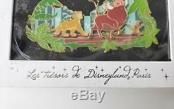 Disney Rare Disneyland Paris Le 400 Jumbo Pin Roi Lion Simba Timon Pumba
