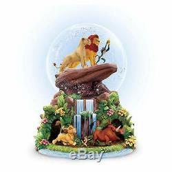 Disney Roi Lion Rotating Musical Glitter Globe Nouveau