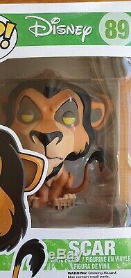Disney Scar Roi Lion Funko Pop 89 Voûté Rare