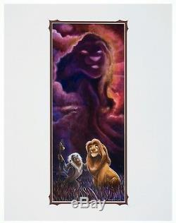 Disney, Signé Par Darren Wilson, Print Deluxe, Le Roi Lion, Simba, Nouveau Avec Coa