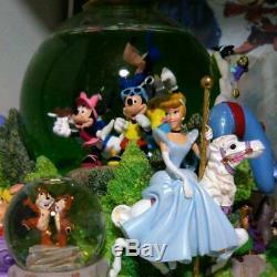 Disney Snow Globe With Music Box Mickey Lion King Princesses Dumbo Superbe F / S
