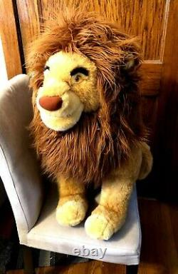 Disney Store 32 Jumbo Simba Large The Lion King Mufasa Stuffed Peluche Rare
