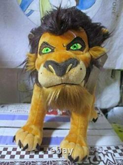 Disney Store Japon Le Roi Lion Scar Big Plush Doll Villans H27cm(10.62in) Nouveau