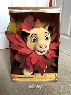 Disney Store Limited Edition Simba Cub En Peluche Peluche Le Roi Lion Rare Feuille